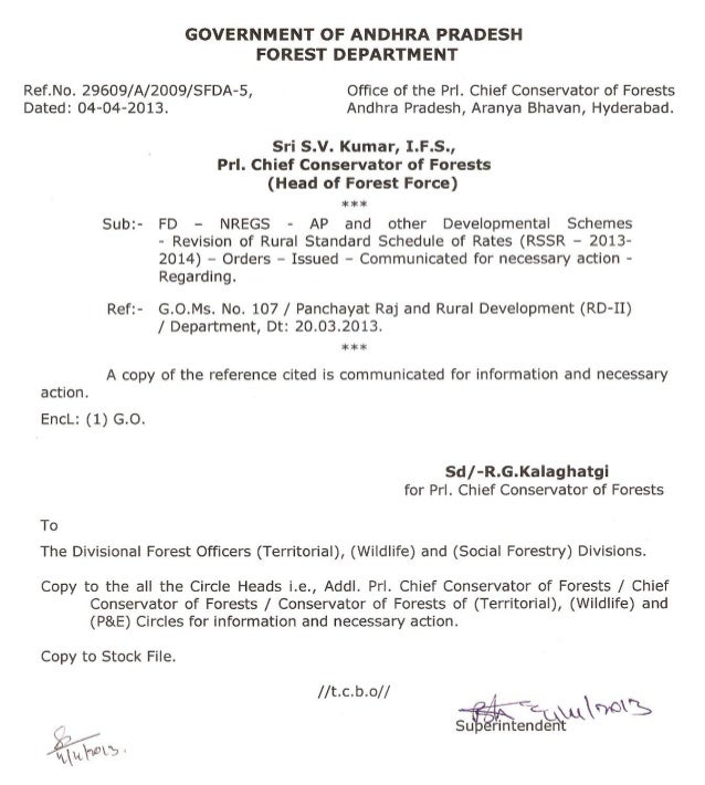 GOVERNMENT OF ANDHRA PRADESH ABSTRACT NREGS – AP and Other developmental schemes – Revision of Rural Standard Schedule of ...