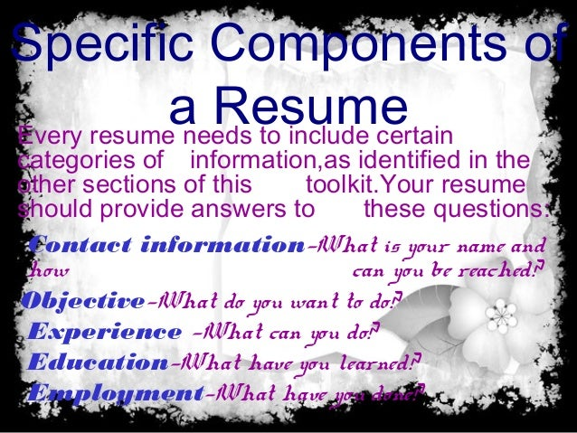 what is resume purpose and objective of resume and type of resume