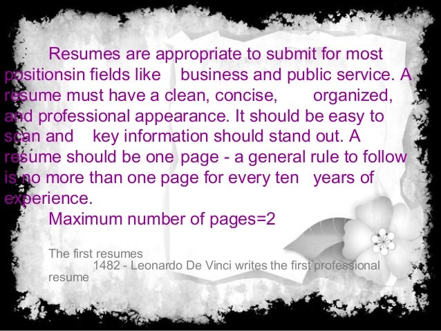 what is the purpose of a resumes