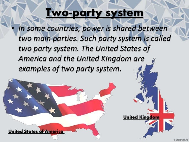 two party system in democracy Two-party system, political system in which the electorate gives its votes largely to only two major parties and in which one or the other party can win a majority in the legislature the united states is the classic example of a nation with a two-party system the contrasts between two-party and multiparty systems are often exaggerated.