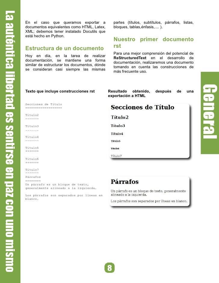 En el caso que queramos exportar a                 partes (títulos, subtítulos, párrafos, listas, documentos equivalentes ...