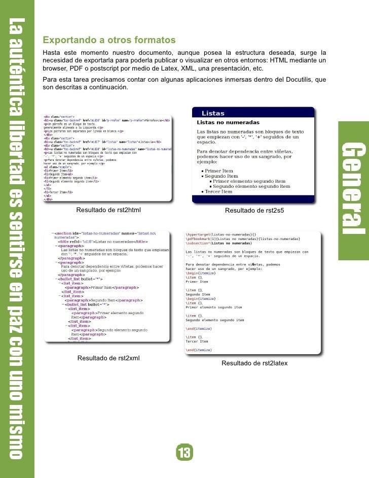Exportando a otros formatos Hasta este momento nuestro documento, aunque posea la estructura deseada, surge la necesidad d...