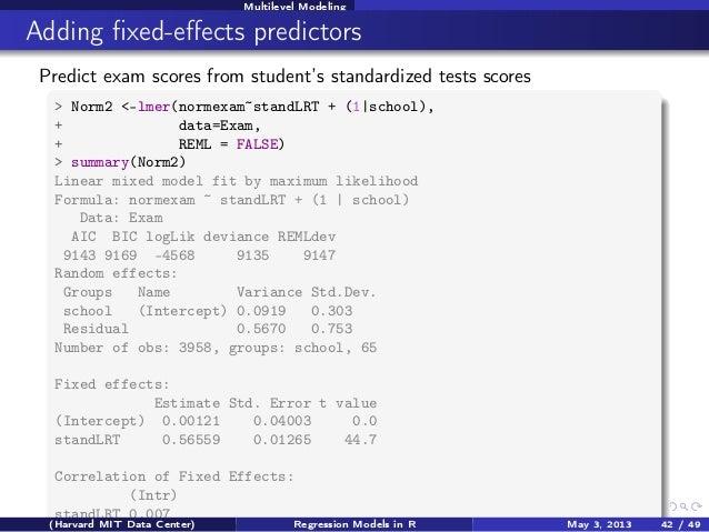 R Regression Models with Zelig