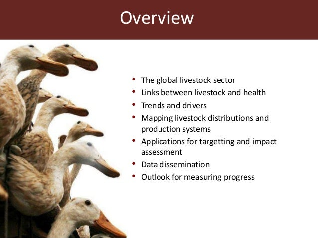 The global livestock sector: Trends and health implications Slide 2