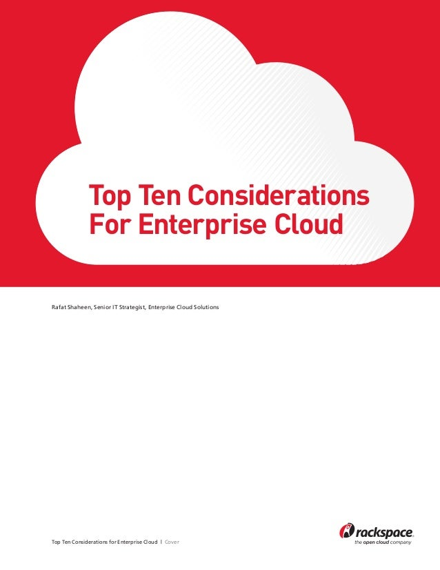 Top Ten Considerations For Enterprise Cloud