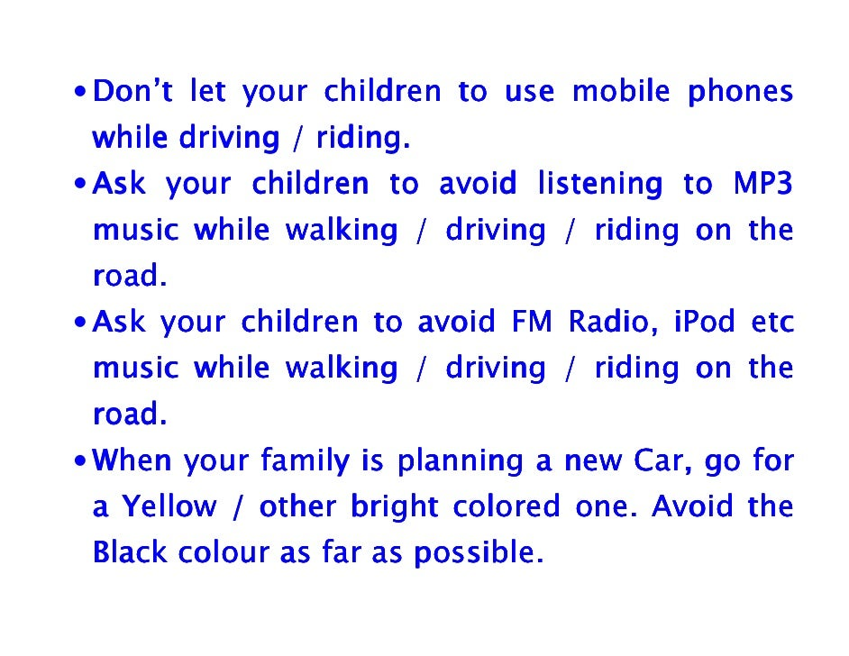 Highway Safety / Road Safety Tips for Parents and Children