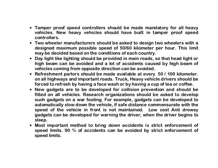 short essay about road safety If you have to write a paper on the topic of health and safety in organizations, don't hesitate to read this custom written plagiarism free essay example.