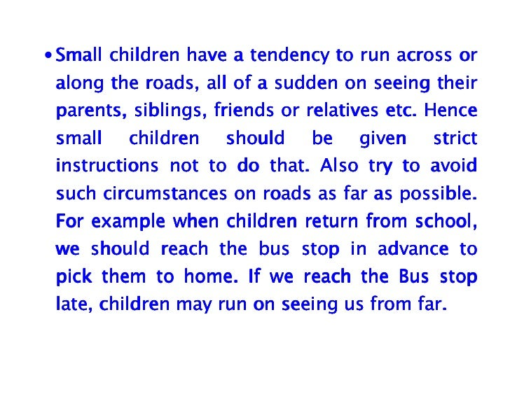 essay for small children