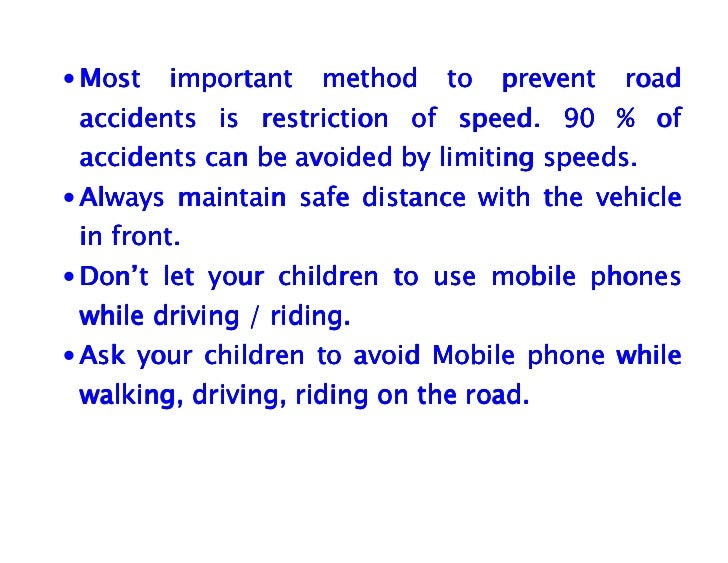essay on how to prevent car accidents Car accidents involving teenagers are the number one cause of teen deaths use these 6 easy ways parents can use to prevent teenage driving accidents.