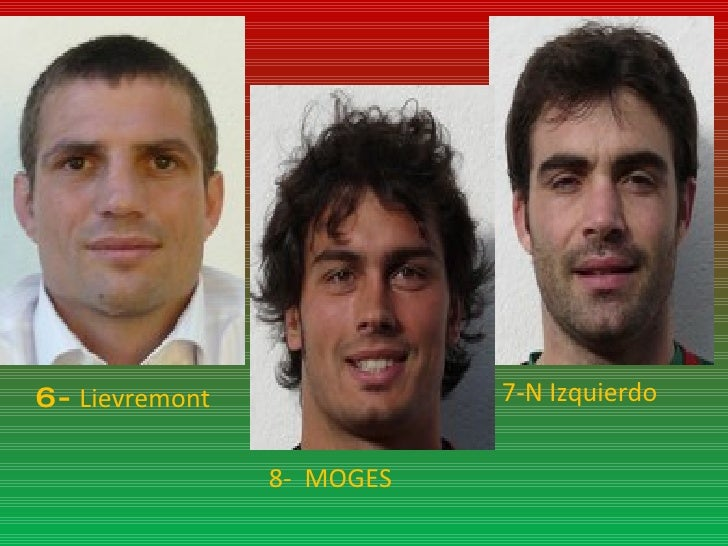 6-  Lievremont 7-N Izquierdo 8-  MOGES