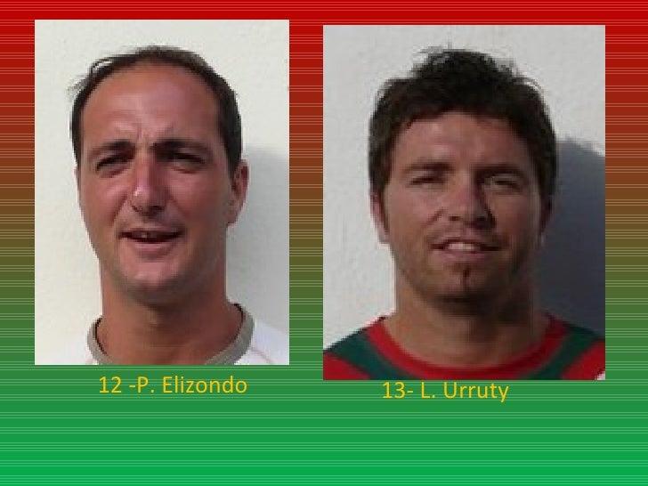 12 -P. Elizondo 13- L. Urruty