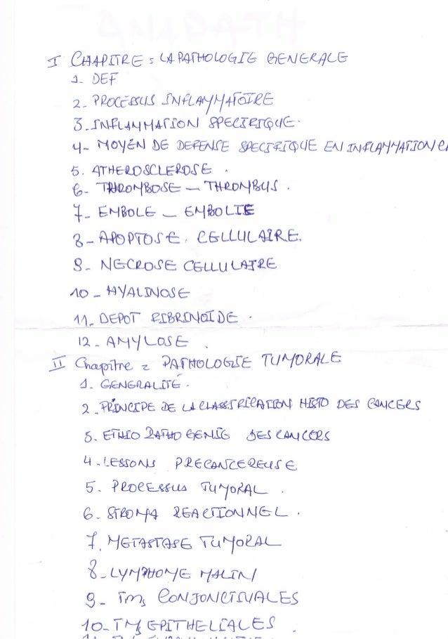 Résumé anatomie pathologique