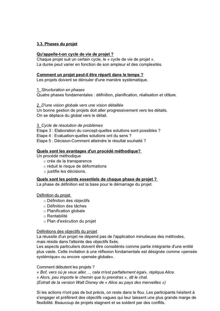 RP1_Résumé de la matière de gestion de projet 2010-2011