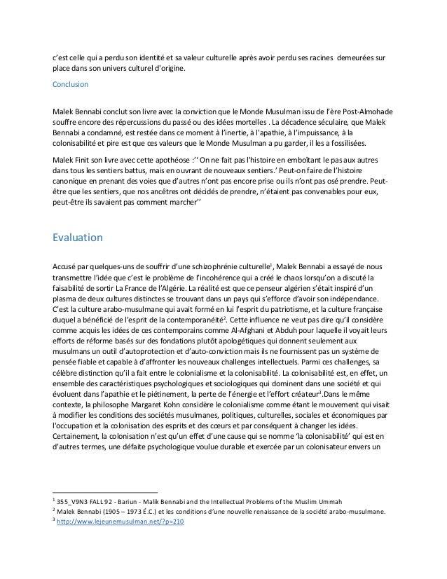 LES CONDITIONS DE LA RENAISSANCE MALEK BENNABI PDF