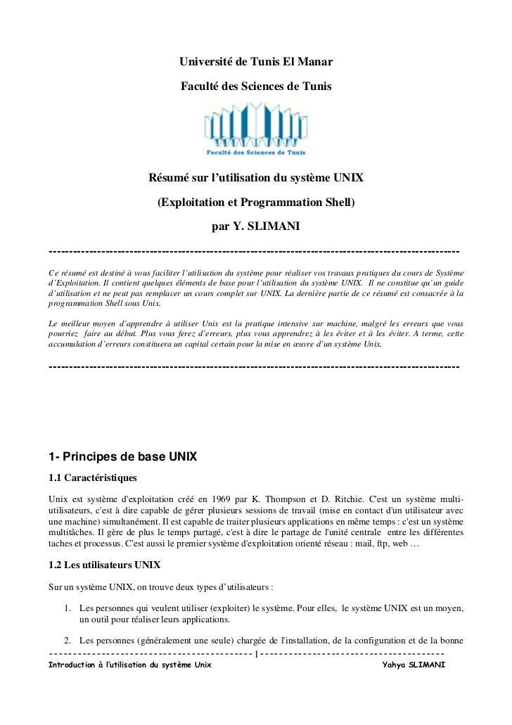 Université de Tunis El Manar                                     Faculté des Sciences de Tunis                            ...