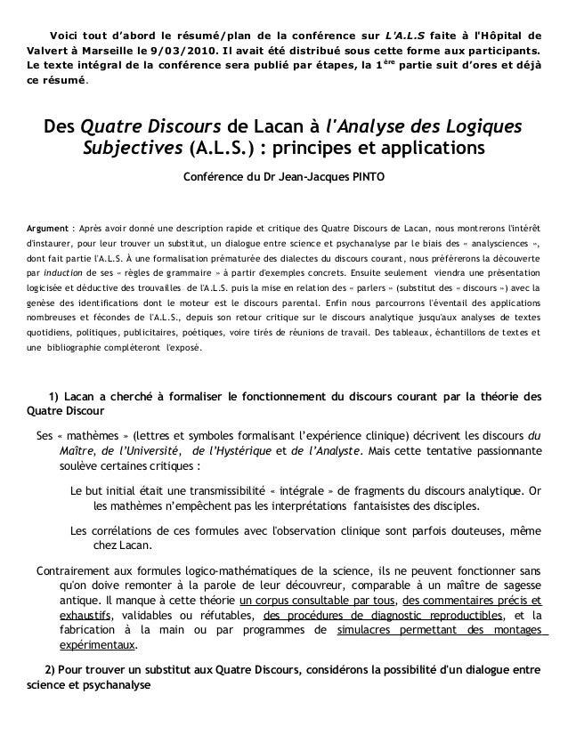 Voici tout d'abord le résumé/plan de la conférence sur LA.L.S faite à lHôpital deValvert à Marseille le 9/03/2010. Il avai...