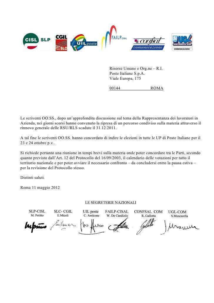 Risorse Umane e Org.ne – R.I.                                                     Poste Italiane S.p.A.                   ...