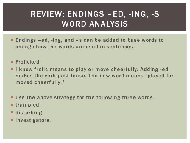 Review on past tense affixes