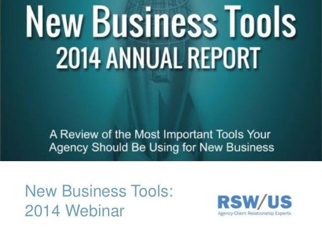 New Business Tools: 2014 Webinar
