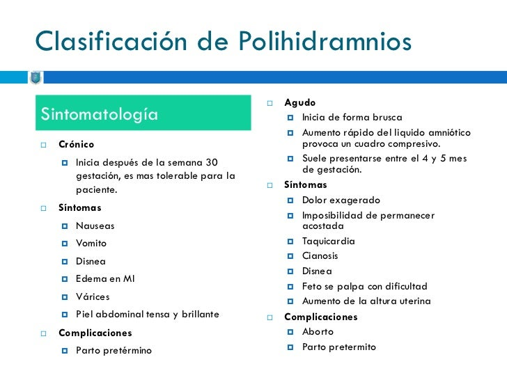 Clasificacion De Oligohidramnios Pdf