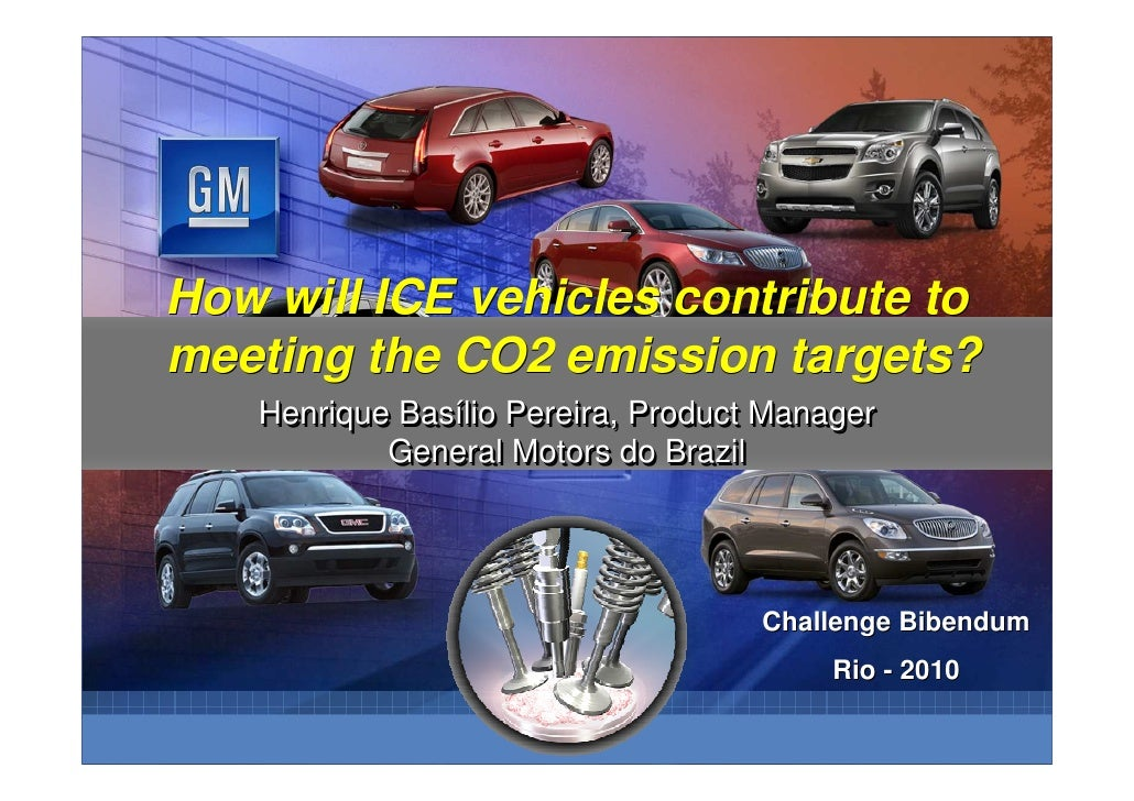 How will ICE vehicles contribute tomeeting the CO2 emission targets?   Henrique Basílio Pereira, Product Manager          ...