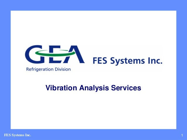 Vibration Analysis ServicesFES Systems Inc.                                 1