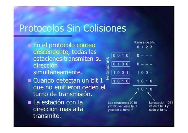 Protocolos Sin Colisiones En los protocolos de token (testigo), un paquete especial circula por el medio compartido de est...
