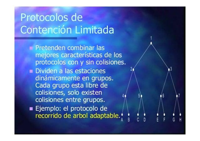 Protocolos con División del Canal Se divide el canal de transmisión en un subcanal de control y multiples canales para dat...