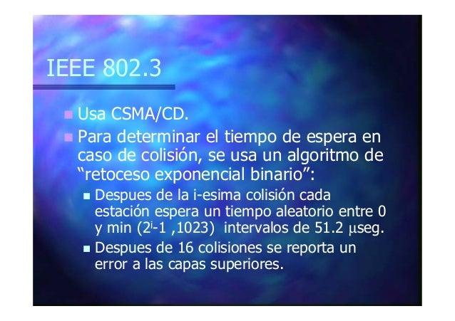 MAC en el IEEE 802.3 Preámbulo Dirección de destino FS N RellenoDatos Dirección de origen CRC Longitud del campo de datos ...
