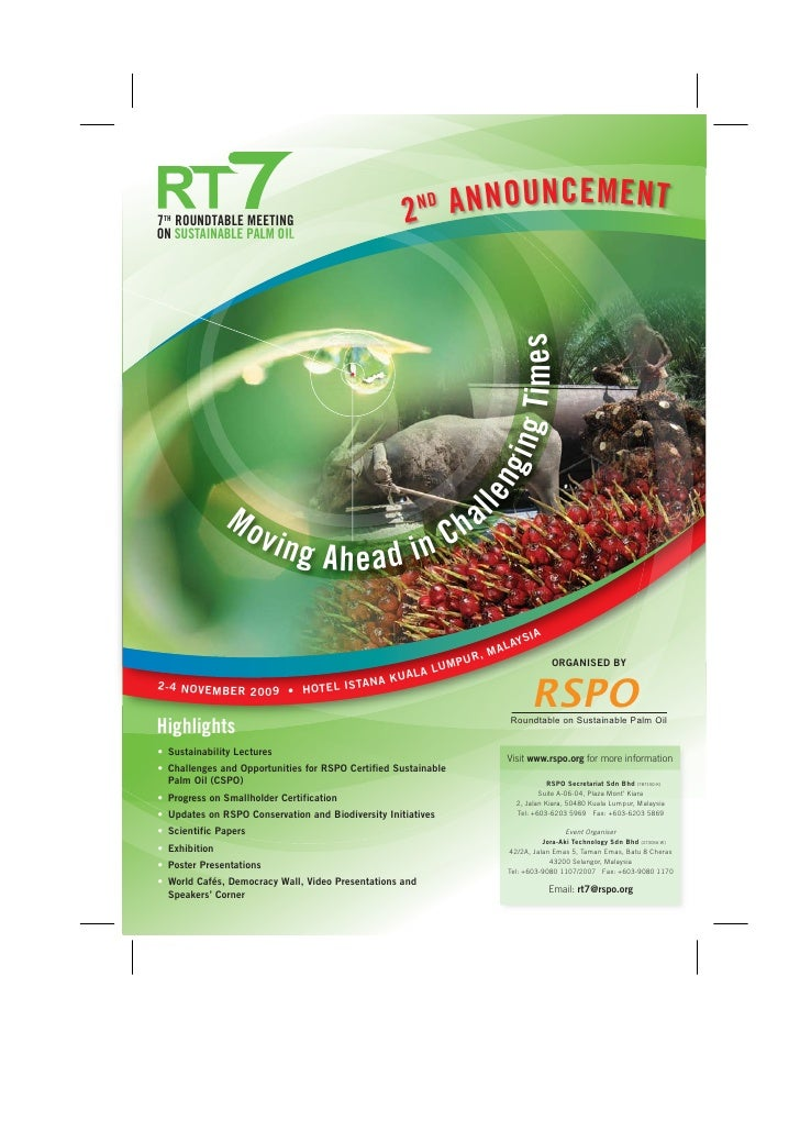 7TH ROUNDTABLE MEETING                              2 ANNOUNCEMENT                                                        ...