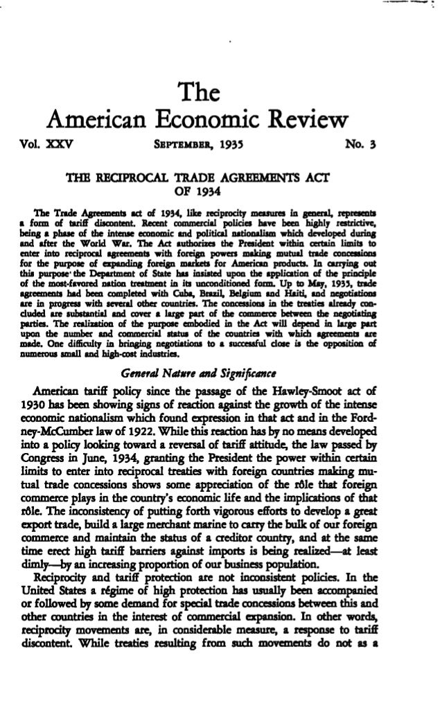 The reciprocal trade agreements act of 1934 the american economic r platinumwayz