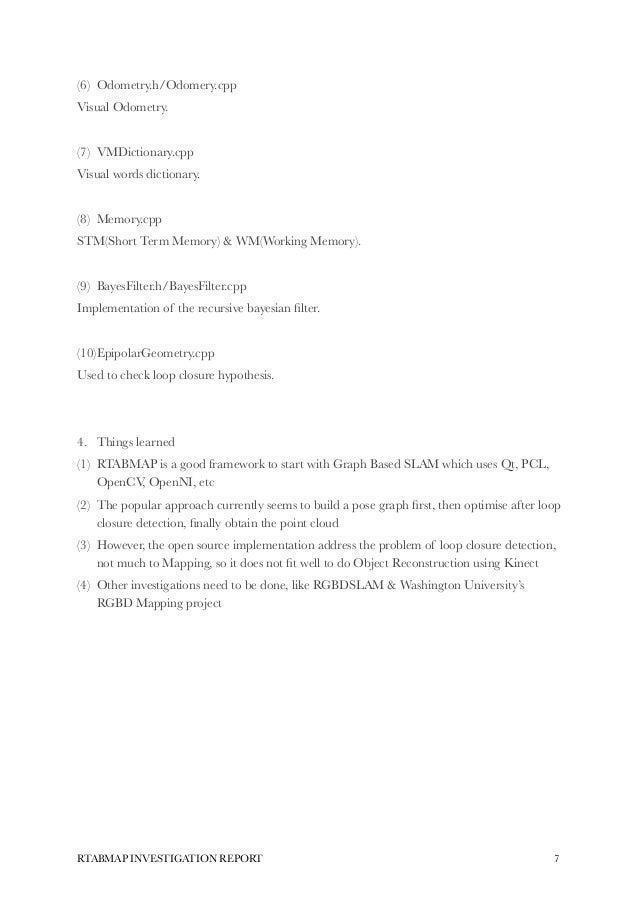 Rtabmap investigation report-lihang