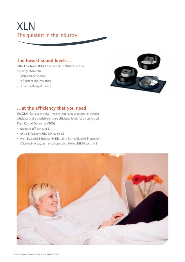 XLN  The quietest in the industry!  The lowest sound levels…  eXtra Low Noise (XLN): Lw from 88 to 91dB(A) across  the ran...