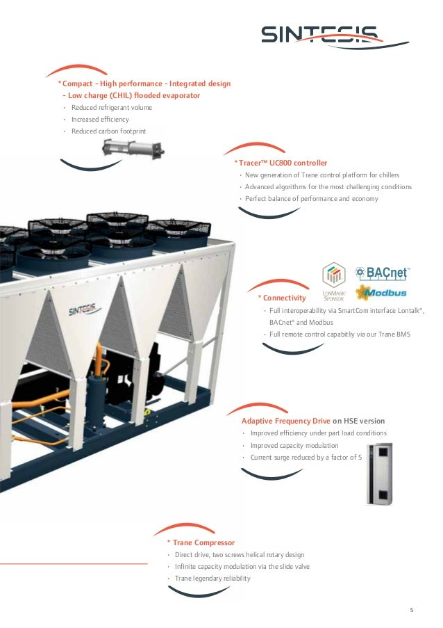 Tracer™ UC800 controller  • New generation of Trane control platform for chillers  • Advanced algorithms for the most chal...