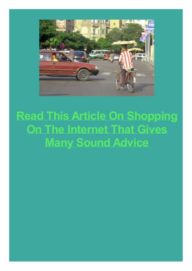 Read This Article On Shopping On The Internet That Gives Many Sound Advice