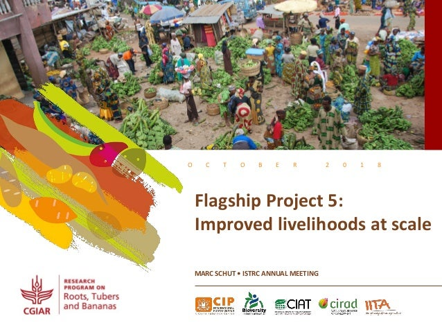 O C T O B E R 2 0 1 8 Flagship Project 5: Improved livelihoods at scale MARC SCHUT • ISTRC ANNUAL MEETING
