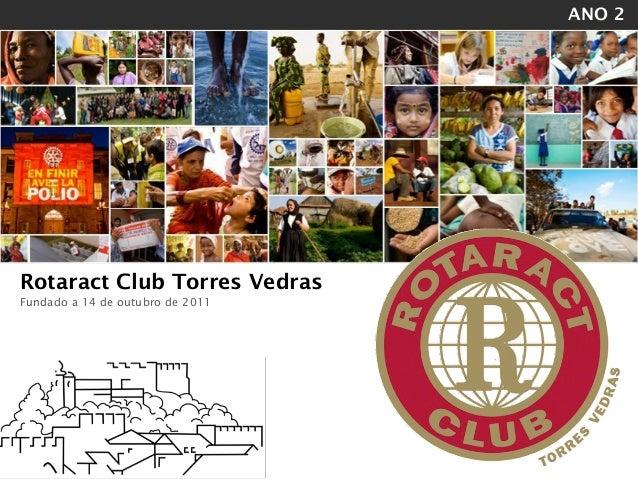 ANO 2!    Rotaract Club Torres Vedras    Fundado a 14 de outubro de 2011