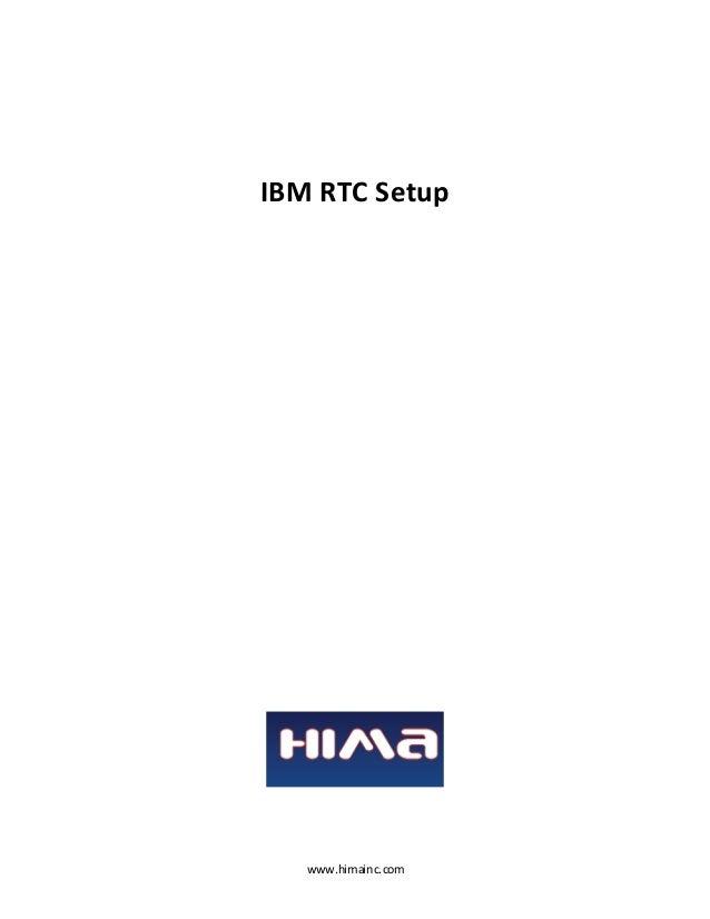 IBM RTC Setup  www.himainc.com