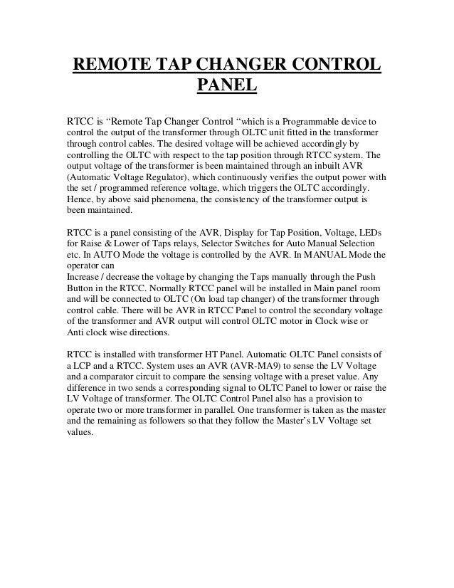 Rtcc Panel Wiring Diagram : Wiring diagram of rtcc panel choice image