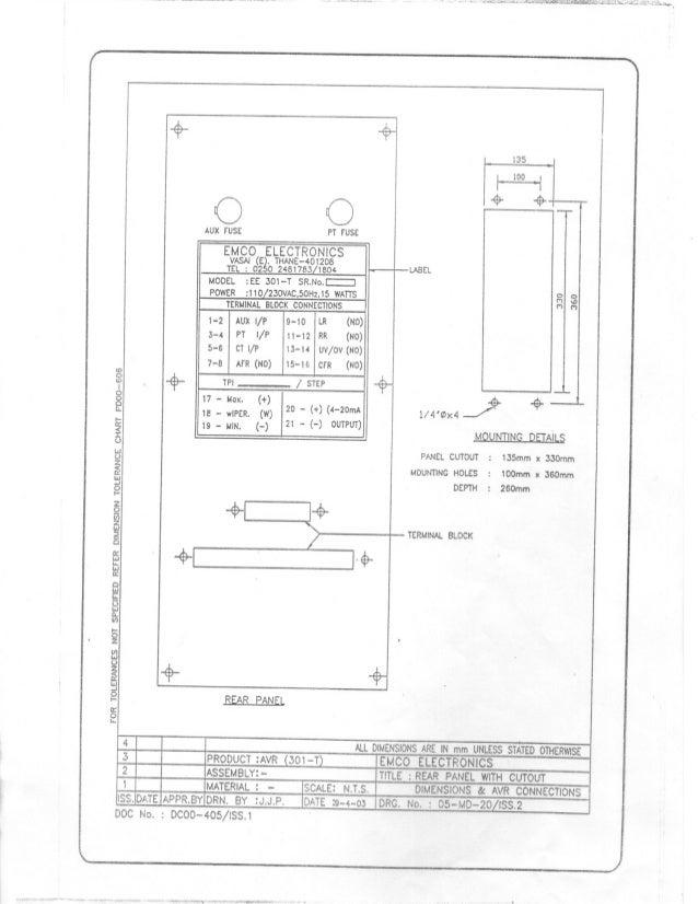 rtcc avr rh slideshare net 220 Sub Panel Wiring Diagram transformer rtcc panel wiring diagram