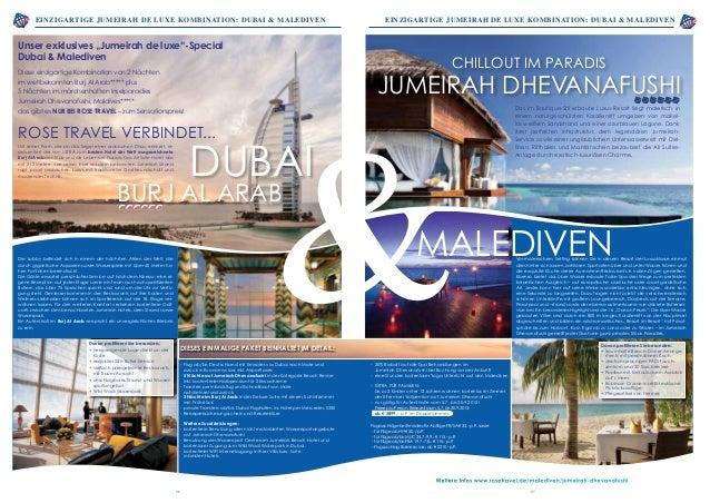 einzigartige Jumeirah De luxe Kombination: Dubai & Malediven bereits ab 1.441,- Euro p.P. einzigartige Jumeirah De luxe Ko...
