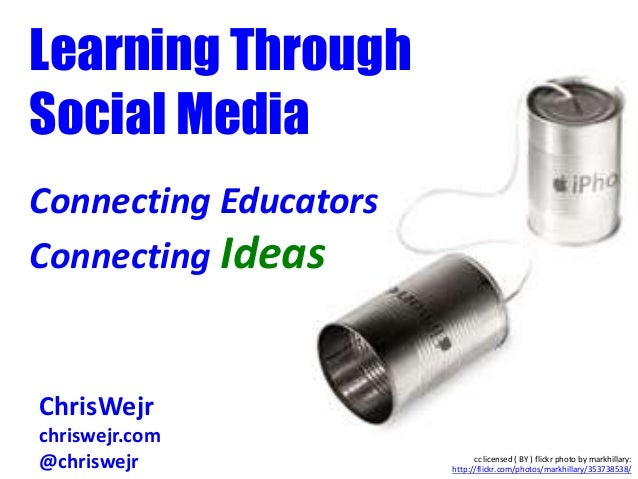 Learning ThroughSocial MediaConnecting EducatorsConnecting IdeasChris WejrChrisWejrchriswejr.com@chriswejr cc licensed ( B...