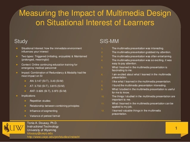 Measuring the Impact of Multimedia Design on Situational Interest of Learners Study         SIS-MM  Situational Intere...