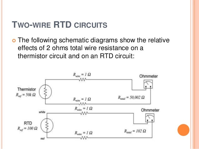 rtds thermistors 44 two wire rtd circuits ï'¢ the following schematic