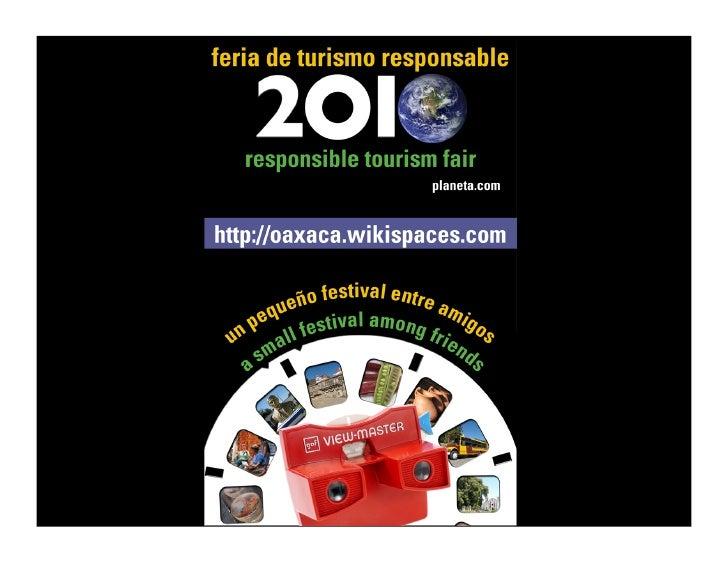 2010 Responsible Tourism Fair                       Fecha        Opciones                       Fecha         Opciones...