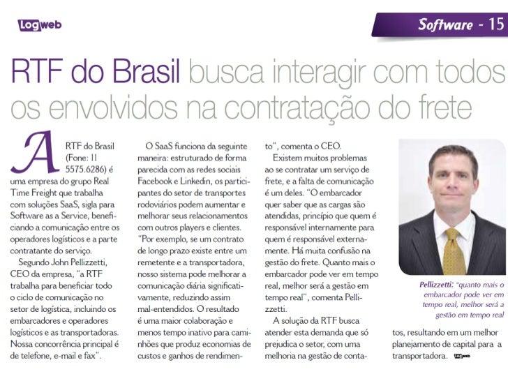 Rtf Do Brasil Na Revista Log Web