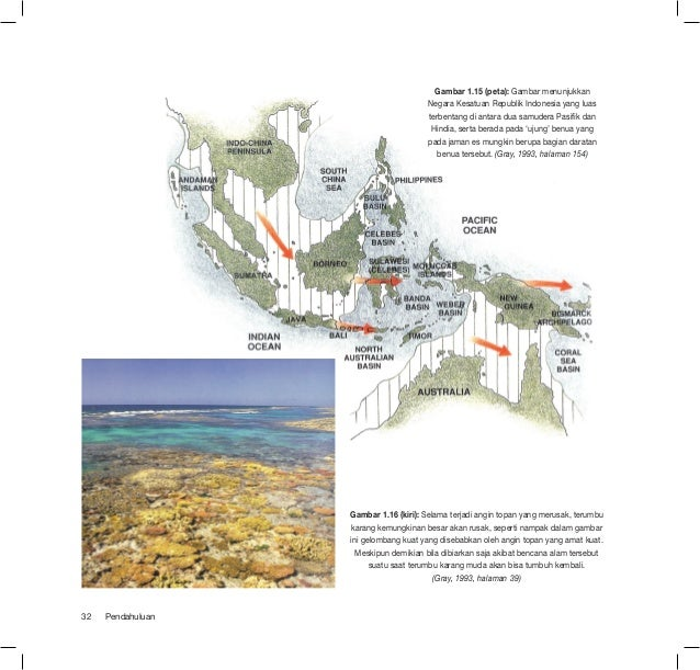 Gambar 1.15 (peta): Gambar menunjukkan                                       Negara Kesatuan Republik Indonesia yang luas ...