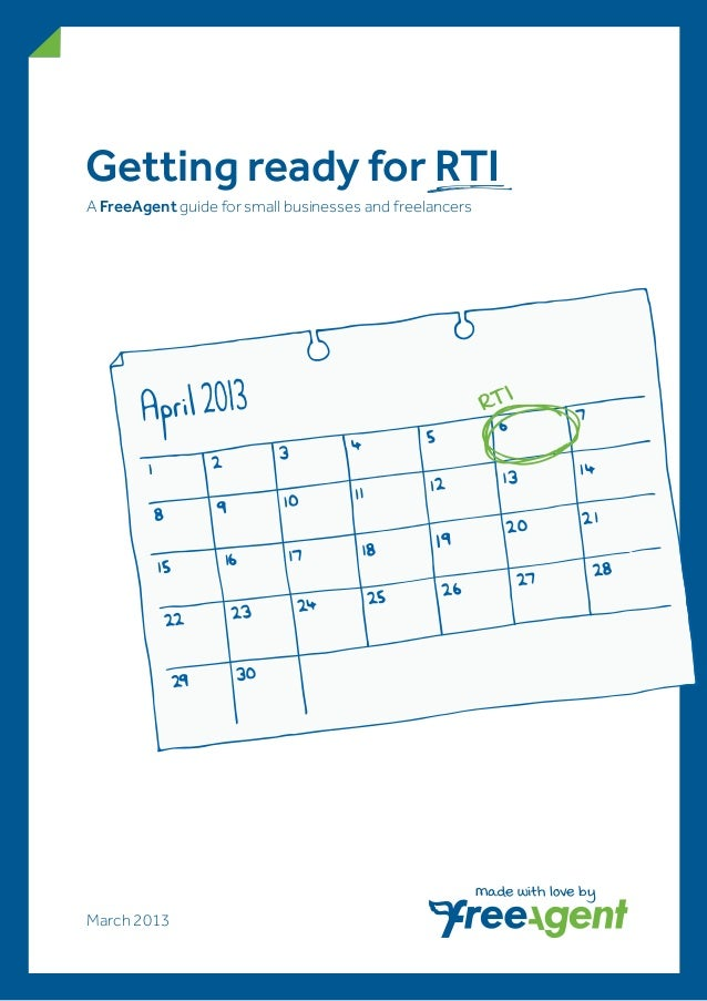Getting ready for RTIA FreeAgent guide for small businesses and freelancers                                               ...