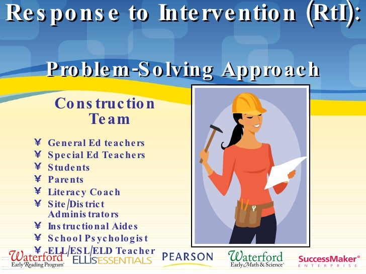 rti model essay The response to intervention program has two main models: the problem solving and the standard protocol versions the problem solving model has five tiers of.