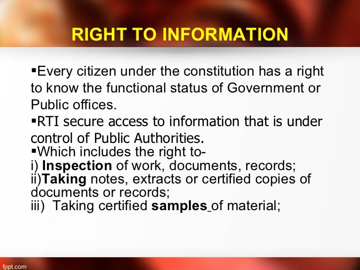 how to use right to information act